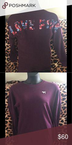 Victoria's Secret Pink sweatshirt 🎉 Brand new Victoria's Secret Pink terry cloth sweatshirt 🎉 PINK Victoria's Secret Tops Sweatshirts & Hoodies