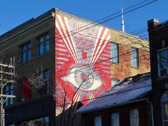 """Obey Eye by Shepard Fairey """"Never trust your own eyes, believe what you are told"""" Toronto 2014"""