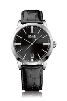 2ed813e04b03 Hugo Boss Men s Boss Black Black Leather Strap Watch 1513129 – For Sale