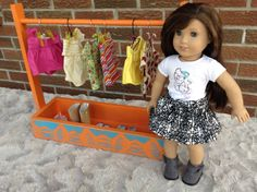 clothing carrier/rack for American girl, Maplelea girl, Our generation, Journey girl (any 18 inch doll)