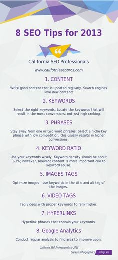 8 SEO Tips for 2013