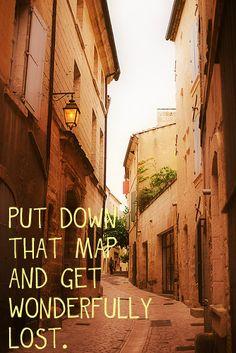 Let's get lost....