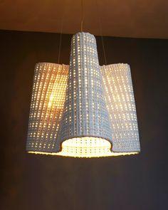 """Scott Daniel Design; Wave Pendant  22"""" x 18"""" Cmesh (ceramic)"""