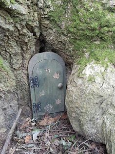 Geocache - I would love to place a cache like this.  With a mini door. Just needs to far enough from muggles