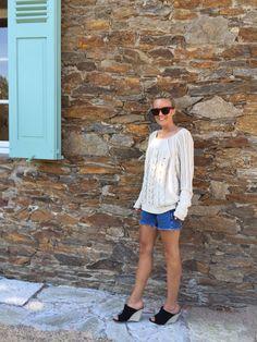 Style...Sofi Fahrman // Sofi's snapshots // Hunkydory knit and denim