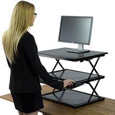 Easily adjustable sit-stand desk