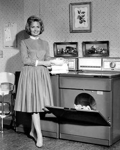 Donna Reed Show, a perfect housewife.  True, that was Hollywood, there was a script, but I know of many Donna Reeds today who dress up being home and when they prepare and serve their families their meal.   WE have lost so much class in society.  Comfort is ideal, but so is a lovely fashion code and a smile!