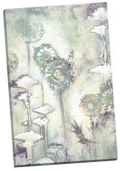 Sage Garden II by Rowen Painting Print on Wrapped Canvas