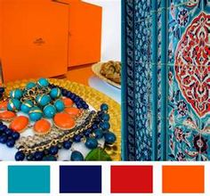 Navy/Orange Color Palette  @Sherry Coogan
