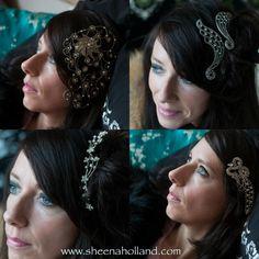 Feather headband vintage headband antique wedding pearl bride bridesmaid diamanté hair comb www.sheenaholland.com