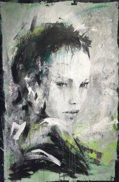 """Saatchi Art Artist Joost Verhagen; Female Portrait Painting, """"Portrait of Aisha"""" #art"""