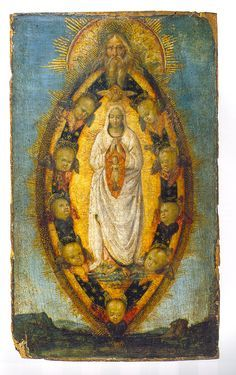 """""""The Immaculate Conception"""" by Anonymous from Umbria, Nationalmuseum Stockholm Blessed Mother Mary, Divine Mother, Blessed Virgin Mary, Religious Images, Religious Icons, Religious Art, Madonna, Immaculée Conception, Vintage Holy Cards"""