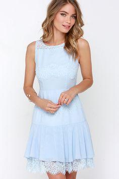 Pastel Me More Light Blue Lace Dress at Lulus.com!