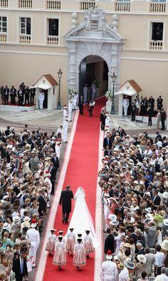 Princess Charlene Wedding | Charlene Wittstock - Monaco Royal Wedding - The Religious Wedding ...