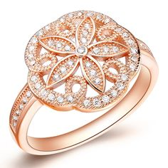 Find More Rings Information about Big Rings for Women Rose Gold Plated Ring Engagement Simulated Diamond Jewelry Anel Flower Ornamentation Discounts Ulove J184,High Quality ring broadsword,China ring size for men Suppliers, Cheap ring rivet from Ulovestore Jewelry on Aliexpress.com