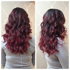 Cherry Cola Ombre - if my hair ever gets that long