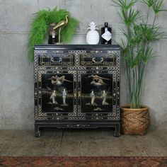 A wide range of vintage / mid-century storage including sideboards, chests of drawers, plan chests, haberdashery cabinets etc. all sourced by Mustard Vintage Chinese Furniture, Oriental Furniture, Colorful Furniture, Vintage Furniture, Asian Interior Design, Drinks Cabinet, Asian Home Decor, Chinoiserie Chic, Vintage Storage