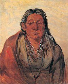 George Catlin (American artist, 1796-1872) Wah-pe-séh-see, Mother of the Chief