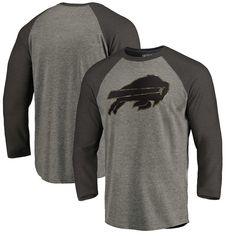 Philadelphia Eagles NFL Pro Line by Fanatics Branded Camo Prestige Raglan  Tri-Blend T-Shirt – Heathered Gray Black 7fb732632