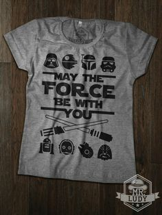 Camiseta Star Wars - May the force be with you