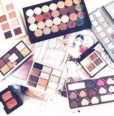 Throwback to some warm eyeshadow palettes I love @makeupgeekcosmetics @ciatelondon @narsissist @loraccosmetics @stilacosmetics @ctilburymakeup