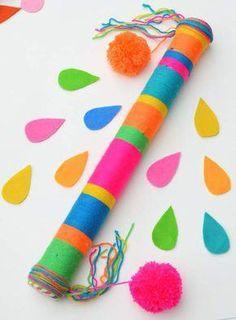 Super music diy instruments for kids Ideas Music Crafts, Fun Crafts, Diy And Crafts, Arts And Crafts, Diy For Kids, Crafts For Kids, Instrument Craft, Music Instruments, Rain Sticks