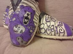 UCA Bears hand painted TOMS by Kelly