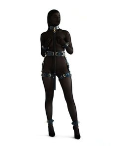 Set of:- collar - leash - handcuffs (double fixation)- ankle cuffs (double fixation)- thigh cuffs. Leather Mask, Leather Collar, Leather Handcuffs, Collars Submissive, Garter Belt And Stockings, Leather Suspenders, Collar And Leash, Thighs, Kit