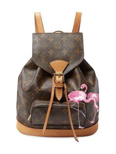 7d40584ff472 Hand Painted Customized Monogram Canvas Montsouris MM by Louis Vuitton at  Gilt