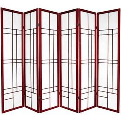 Purchase x 84 Eudes Shoji 6 Panel Room Divider Oriental Furniture Solid Wood Dining Chairs, Dining Chair Set, Japanese Room Divider, Japanese Living Rooms, Japanese Screen, Japanese Art, Shoji Screen, Folding Room Dividers, Panel Room Divider