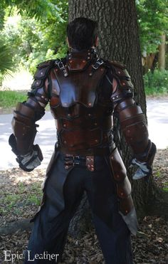SCA Heavy Combat Leather Armor Kit - Back by Epic-Leather on DeviantArt