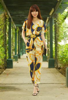 Chains And Vines ( Graphic Jumpsuits & Heels & Wedges ) Urban Fashion, Love Fashion, Fashion Beauty, Fashion Show, Fashion Outfits, Womens Fashion, Fashion Tips, Camille Co, Trendy Summer Outfits
