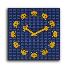 {Space Invaders Wall Clock}