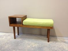 Telephone side table finally gets its cushion. I have 1 left for sale.