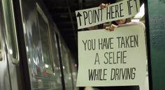 Humor | Pegadinha com os condutores de metrô em Nova York #humor #placa #cartaz #prank #pegadinha