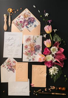 TOP 10 most romantic Vintage Flowers Wedding Invitations - blog 4lovepolkadots