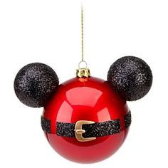 Disney Mickey Mouse Ornament   Disney StoreMickey Mouse Ornament - Buckle up for a fun seasonal ride with this bold Mickey ornament! Mickey's ears and Santa's belt tell a charming Christmas story that will delight your guests and bring out the magic in your tree.