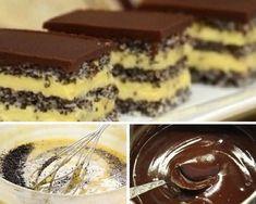 A mákos süteményeknek senki sem tud ellenállni Hungarian Cake, Hungarian Recipes, Healthy Cake, Healthy Cookies, Cookie Recipes, Dessert Recipes, Yummy Treats, Yummy Food, Pastry Cake