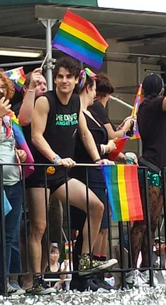 Shot of the day: Darren Criss at NYC Pride.