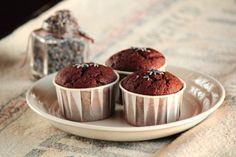 Chocolate Lavender Cupcakes