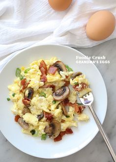 Scrambled eggs with delicious fillings, this recipe is quick and easy for any meal. | foodiecrush.com