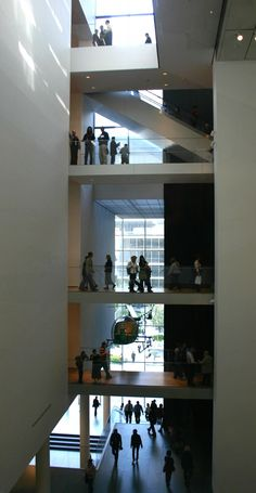 This is insice The Museum of Modern Art – MOMA – In New York City.  This view is better than most of the art in the museum