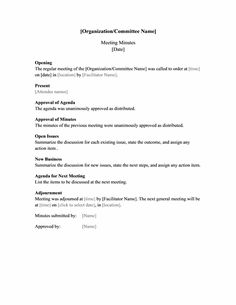 Staff Meeting Minutes Templates  Minutes Templates