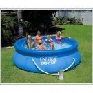 Summer Waves x Inflatable Ring Quick Set Pool W/ Filter Pump! Condition is New.Get yours today before summer arrives! Don't be stuck on those hot quarantine days without a pool! Pool Nets, Wave Pool, Intex Pool, Above Ground Swimming Pools, Above Ground Pool, In Ground Pools, Summer Waves, Pumps