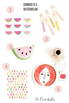 Summer is a watermelon! Enter www.53countesses.blogspot.com for goodies :)