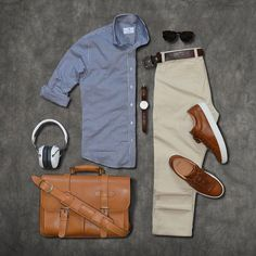 Stylish Mens Clothes That Any Guy Would Love - mode - Cool Outfits For Men, Casual Outfits, Casual Attire, Casual Dresses, Style Gentleman, Stylish Men, Men Casual, Casual Styles, Casual Chic