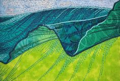 """Musa Balbisiana No.18"" - textile art by Jane L. Kakaley"