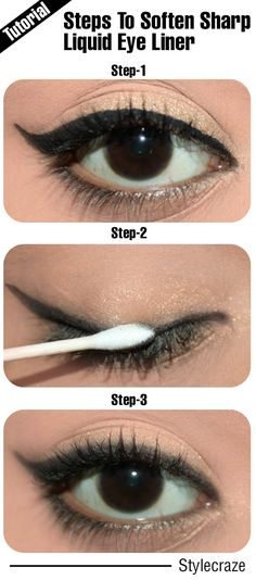 3 Simple Steps To Soften A Sharp Liquid Eye Liner – Tutorial