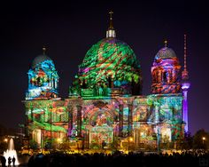 """""""The Festival of Lights is one of the largest illumination festivals in the world. Every year for twelve days in October, Berlin's world-famous landmarks and monuments are dressed in spectacular light. German and international artists and lighting designers present extraordinary illuminations, light art and creative designs."""""""
