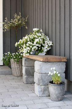 brick garden bench